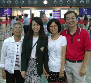 Cynthia Su with family