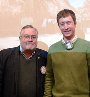 Caleb Walker joins Rotary