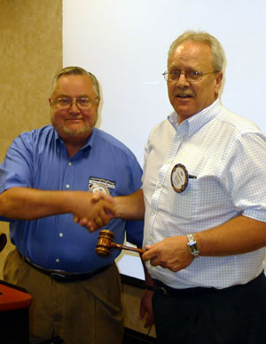 Pat Roll, Fayette Rotary president