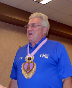 Larry Anderson given Purple Heart