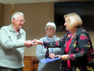Roger Lembke receives Plus 2 pin