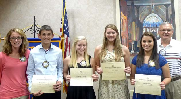 FHS August 2013 Students of the Month