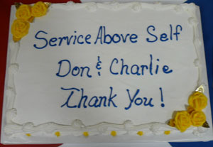 Cake to honor retirees